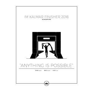 Sverigemotiv Ironman Kalmar Poster Juliste 40x50 Cm