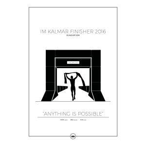 Sverigemotiv Ironman Kalmar Poster Juliste 50x70 Cm