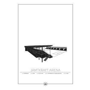 Sverigemotiv Jämtkraft Arena Östersund Poster Juliste 50x70 Cm