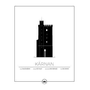 Sverigemotiv Kärnan Helsingborg Poster Juliste 40x50 Cm