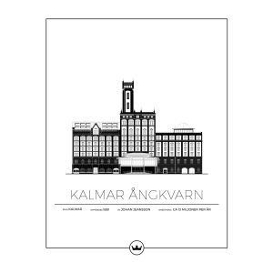 Sverigemotiv Kalmar Ångkvarn Poster Juliste 40x50 Cm