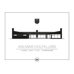 Sverigemotiv Kalmar Golfklubb Poster Juliste 40x50 Cm