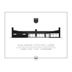 Sverigemotiv Kalmar Golfklubb Poster Juliste 50x70 Cm