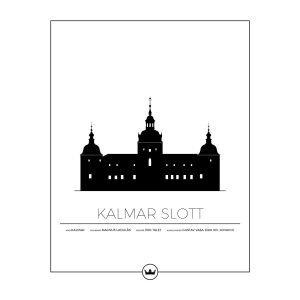 Sverigemotiv Kalmar Slott Poster Juliste 40x50 Cm