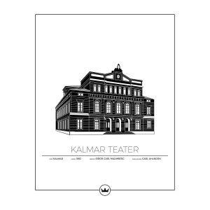 Sverigemotiv Kalmar Teater Juliste 40x50 Cm