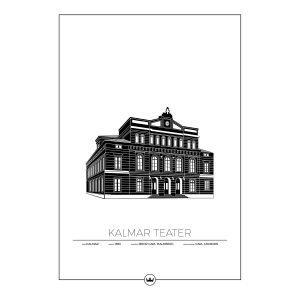 Sverigemotiv Kalmar Teater Juliste 50x70 Cm