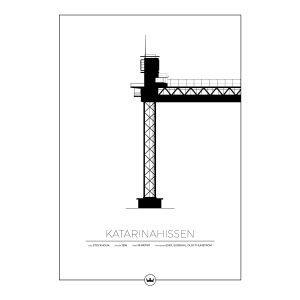 Sverigemotiv Katarinahissen Stockholm Poster Juliste 50x70 Cm