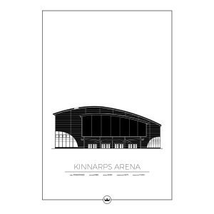 Sverigemotiv Kinnarps Arena Jönköping Poster Juliste 50x70 Cm