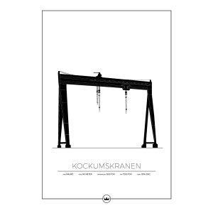 Sverigemotiv Kockumskranen Malmö Poster Juliste 50x70 Cm
