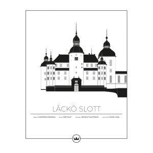 Sverigemotiv Läckö Slott Lidköping Poster Juliste 40x50 Cm