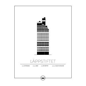 Sverigemotiv Läppstiftet Göteborg Poster Juliste 40x50 Cm