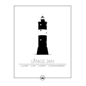Sverigemotiv Långe Jan Öland Poster Juliste 40x50 Cm