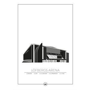 Sverigemotiv Löfbergs Arena Karlstad Poster Juliste 40x50 Cm