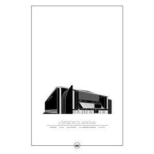 Sverigemotiv Löfbergs Arena Karlstad Poster Juliste 61x91 Cm