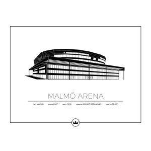 Sverigemotiv Malmö Arena Poster Juliste 40x50 Cm