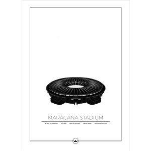 Sverigemotiv Maracana Stadium Rio Poster Juliste 50x70 Cm