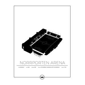 Sverigemotiv Norrporten Arena Sundsvall Poster Juliste 40x50 Cm