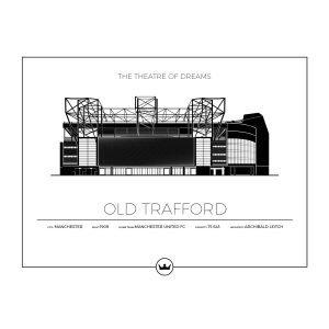 Sverigemotiv Old Trafford Manchester Poster Juliste 40x50 Cm