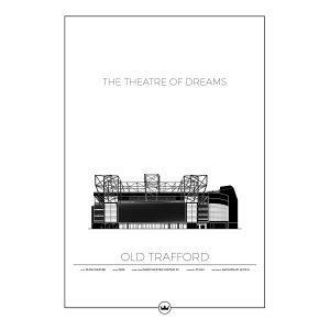 Sverigemotiv Old Trafford Manchester Poster Juliste 50x70 Cm
