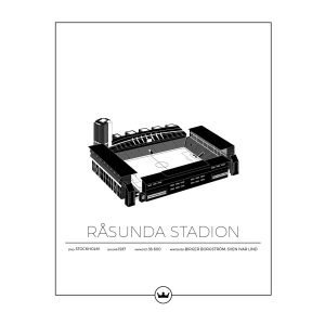 Sverigemotiv Råsunda Stockholm Poster Juliste 40x50 Cm