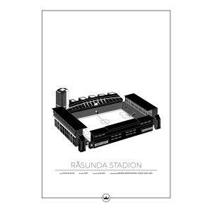 Sverigemotiv Råsunda Stockholm Poster Juliste 50x70 Cm