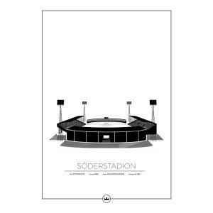 Sverigemotiv Söderstadion Stockholm Juliste 50x70 Cm