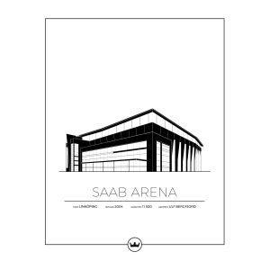 Sverigemotiv Saab Arena Linköping Poster Juliste 40x50 Cm