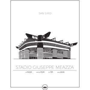 Sverigemotiv San Siro Milano Italien Poster Juliste 50x70 Cm