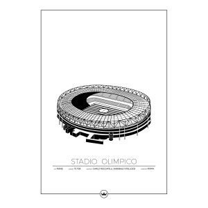 Sverigemotiv Stadio Olimpico Roma Juliste 50x70 Cm