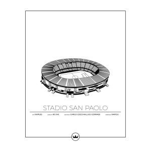 Sverigemotiv Stadio San Paolo Napoli Juliste 40x50 Cm