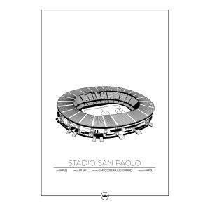 Sverigemotiv Stadio San Paolo Napoli Juliste 50x70 Cm