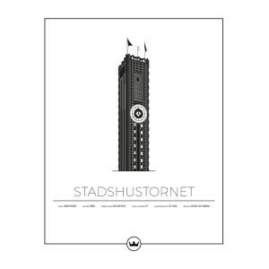 Sverigemotiv Stadshustornet Västerås Poster Juliste 40x50 Cm