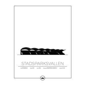 Sverigemotiv Stadsparksvallen Jönköping Poster Juliste 40x50 Cm