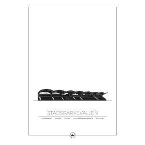 Sverigemotiv Stadsparksvallen Jönköping Poster Juliste 50x70 Cm