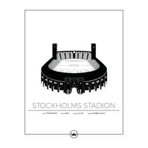 Sverigemotiv Stockholms Stadion Poster Juliste 40x50 Cm
