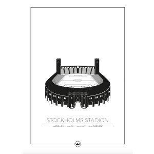 Sverigemotiv Stockholms Stadion Poster Juliste 50x70 Cm