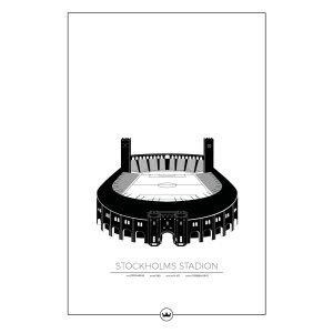 Sverigemotiv Stockholms Stadion Poster Juliste 61x91 Cm