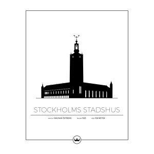 Sverigemotiv Stockholms Stadshus Poster Juliste 40x50 Cm