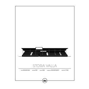 Sverigemotiv Stora Valla Degerfors Poster Juliste 40x50 Cm