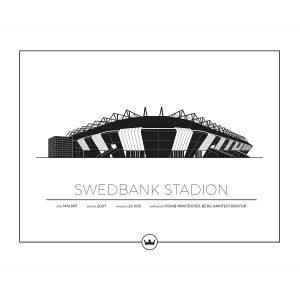 Sverigemotiv Swedbank Stadion Malmö Poster Juliste 40x50 Cm