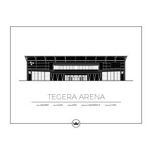Sverigemotiv Tegera Arena Leksand Poster Juliste 40x50 Cm