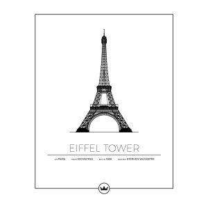 Sverigemotiv The Eiffel Tower Paris Poster Juliste 40x50 Cm