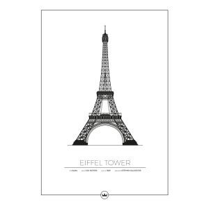 Sverigemotiv The Eiffel Tower Paris Poster Juliste 50x70 Cm