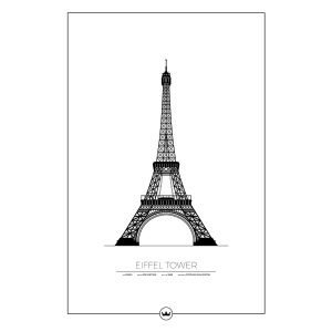 Sverigemotiv The Eiffel Tower Paris Poster Juliste 61x91 Cm
