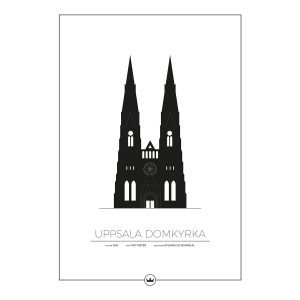 Sverigemotiv Uppsala Domkyrka Poster Juliste 50x70 Cm