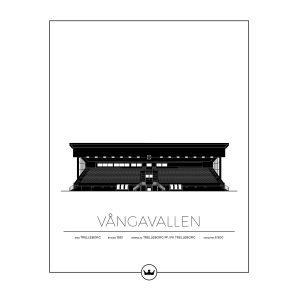 Sverigemotiv Vångavallen Trelleborg Poster Juliste 40x50 Cm