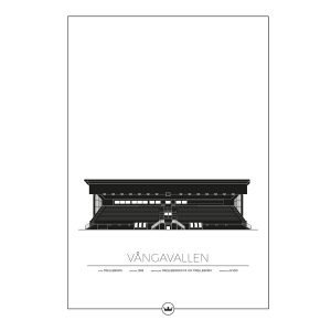 Sverigemotiv Vångavallen Trelleborg Poster Juliste 50x70 Cm