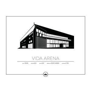 Sverigemotiv Vida Arena Växjö Poster Juliste 40x50 Cm