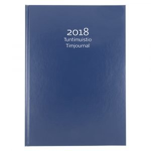 Tuntimuistio 2018 Sininen A4