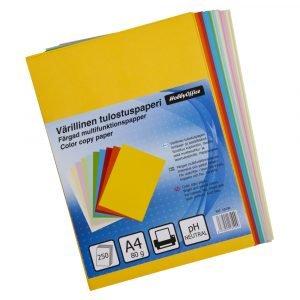 Värillinen Tulostuspaperi A4 250 Kpl